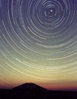 星空とゲル(モンゴル)